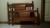 Twin Bed Solid Maple