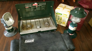 Coleman propane camping stove heater and lantern