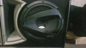 "2 10"" Hertz subs (new) 1100 watt amp"