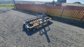 Tractor three point linkage fleming 6ft harrows with rear leveller