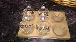 Personalized Glass Xmas balls. Can be filled with hot coco etc Peterborough Peterborough Area image 1