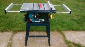 """Mastercraft 10"""" Tablesaw with stand"""
