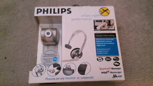 PHILIPS Web cam and headset