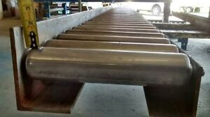 Heavy Duty Roller Conveyors with one high frame side