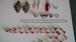 assorted jewellery, and silver necklaces!