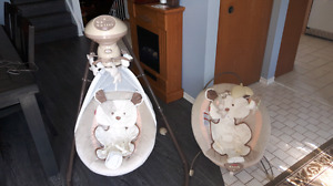 Snug-a-puppy swing and matching bouncer