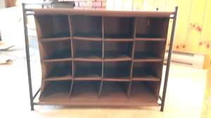 Brown shoe rack with 16 pockets - $10 OBO
