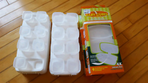 Baby food storage containers (Baby Cubes)