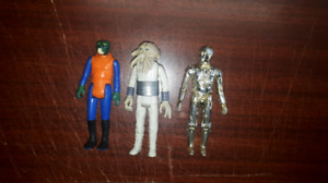 3 Vintage Star Wars Figures Toys