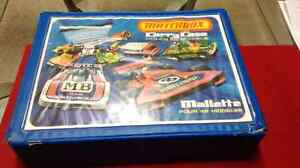 Vintage Matchbox case with 30 cars