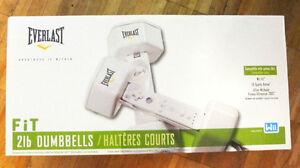 SEALED BOX EVERLAST 2 lb DUMBBELLS FOR WII GAMING SYSTEM..