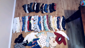 Huge lot of 0-3 and 3-6 month boy clothing