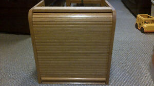 Fri & Sat Sale  $65....................Wooden roll top bread box