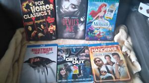 Lot of blu-rays and dvds