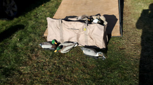 Avain x mallard duck decoys with J weights and  bags