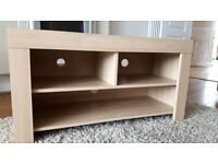 Light oak veneer tv display unit