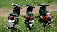 3 scooters a vendre en lot (750$) ou 300$ chacun