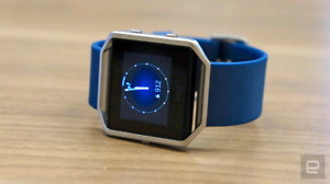 Fitbit blaze blue band with charger