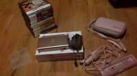 9 Ds Games, Pink Ds Lite, Charger+Car Charger, Pink Case, & More