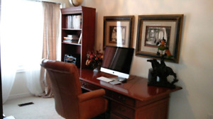 High end executive desk and book shelf for sale
