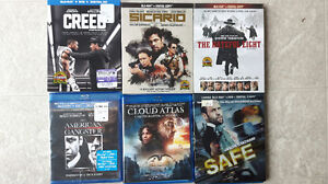 BluRays (6) for sale ... new condition