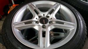 4 Rssw 17 x 8 inch wheels 5 x 112 bolt pattern FREE POWDER COAT