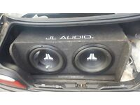 """Twin 12"""" jl box for sale"""