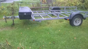 6 1/2 x 12 galvanized atv/landscape trailer