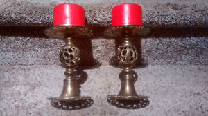 Fancy Brass Candle Holders