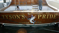 Boat Graphics in Traditional Goldleaf!