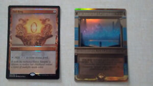 Masterpiece Sol Ring and Daze Magic the Gathering (mtg) cards
