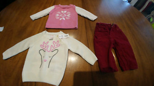 6-12 month Gap and Joe fresh sweaters and cord Lot