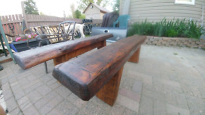 Homemade RARE live edge benches