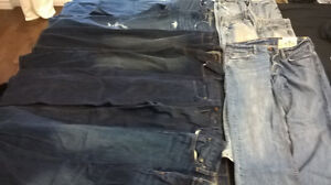 Jeans size 32, $10 each