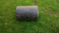 large plastic drum with handle lawn roller like new !!!!!