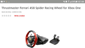 Wanted... Thrustmaster wheel and pedals for xbox one