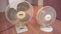 2 very good condition like new electric fans for sale