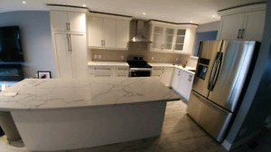 Custom Cabinets,Countertop,floor Tiles,Backsplash