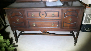 Antique black walnut sideboard