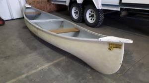 Frontiersman fiberglass canoe