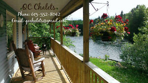 Private, fully equipped, waterfront cottage with hot tub, BBQ +