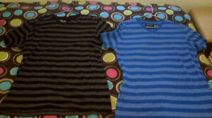 2 Large mens striped shirts both for 10 each