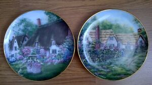 2 English Cottage Plates, the pair for $5