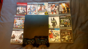 Sony PS3 Excellent Condition with 2 Controllers and 12 Games