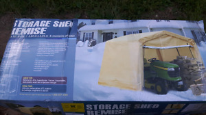 Storage shed. Canvas