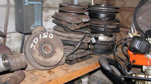 electric clutches, pulleys & mufflers for lawn tractors.