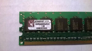 KVR533D2E4/512 Memory Module 512MB 533MHz DDR2 ECC CL4 DIMM Kitchener / Waterloo Kitchener Area image 2