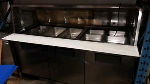 Table froide avec vitre usagé