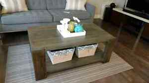 Handmade Rustic Solid Wood Coffee Table, Dining Table & Side