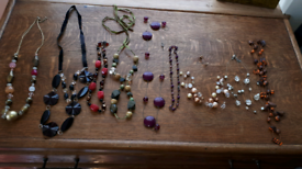 9 beaded necklaces